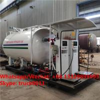 Best cheapest price customized 4tons skid lpg gas tanker with electronic filling scales, skid lpg filling plant with scales wholesale