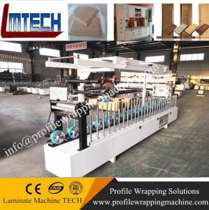 China WPC door jamb PVC door pocket Plastic door frame laminating wrapping machine factory on sale