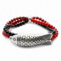 Best Garnet Bracelet, Customized Colors Available, Made of 925 Silver Material  wholesale