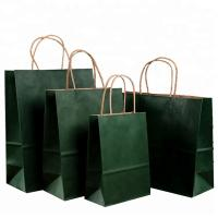 Best Roller Printing Medium Paper Bags With Handles / Kraft Paper Bags Machine Made wholesale