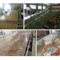 China Compact PVC / Marble / Plastic Board Extrusion Machine High Performance on sale