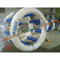 China 2m Blue Inflatable Water Games , Inflatable Water Wheel for Kids And Adults on sale