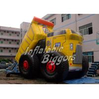 China Residential Car Themes Kids Inflatable Slides With Double Lane , Puncture-Proof EN71 on sale