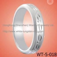 Best 5mm width Handmade Tungsten Ring Rose Gold Plated wholesale