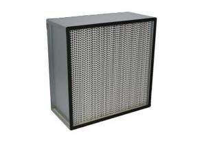 Best Fiberglass H13 Deep Pleat Cleanroom HEPA Filters / HEPA Air Filter With Separator wholesale