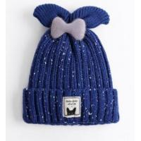 Best Children's knit hat wool hat female bow cute wool hat female baby winter warm headdress new wholesale