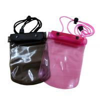 China 50C Transparent Waterproof cell phone bag adjust rope for swimming on sale