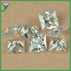 Best Jewelry Setting 10*10mm white square princess cut korean cubic zirconia wholesale