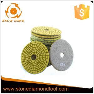 China Flexible Diamond Polishing Pads Abrasive 7 Step Granite Resin Polishing Pads on sale