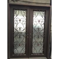 Best Square top wrought iron double entry door wholesale