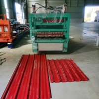 China Multi Glazed Tile And Ibr 8m/Min Double Layer Roll Forming Machine on sale