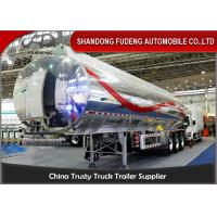 China 40cbm fuel tanker semi trailer , Stainless steel water tank semi trailer on sale