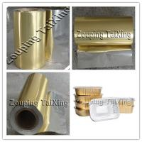 Best 8011 golden coated  aluminium foil with pp film  for food contaier and lids wholesale
