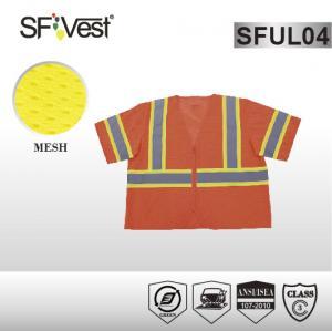 China ANSI / ISEA 107-2010 high visibility reflective safety vest workwear high visibility safety clothing on sale