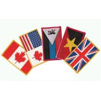 China Embroidered national flag patches, garment accessory embroidered badges, T-shirt patches, on sale