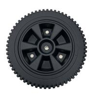 Best 8 Inch Blow Molding Solid Plastic Wheels For Garden Caddy / Trolley / Industrial Cart wholesale