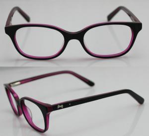 Best Rose Red Children Acetate Optical Eyeglass Frames for Oval Face wholesale