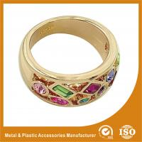 China 18K Gold Plated Fashion Jewelry Rings Ruby Setting Wedding Finger Ring on sale
