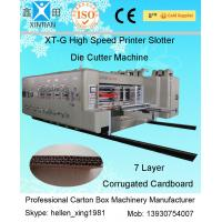Best Double Slotting Automatic Corrugated Carton Machine With Ceramic Anilox Roller wholesale
