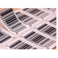 Best Supermarket Barcode Stickers Roll / Thermal Print Sticker Labels Die Cut Shape wholesale