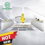 Best WANLONG5 Axis automatic stone cutting machine/cnc granite cutting machinery Bridge Saw for granite/stone/marble wholesale