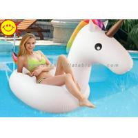 Cheap Inflatable Pool Toys Unicorn Inflatable Water Floats For Swim Pool Rainbow Color for sale