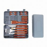 Best Plastic Handle BBQ Tools Set, Made of Stainless Steel with Wood Handle wholesale