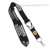China Discount imprinted polyester lanyards with metal buckle, custom lanyards wholesale, MOQ300 on sale