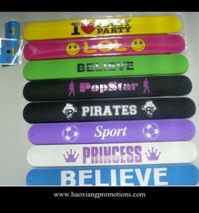 Best Custom multicolor silicon crazy slap bands /slap bracelets/slap wristband wholesale