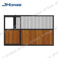 China Bamboo Wood Luxury Horse Stall Fronts , Horse Stable Stall Sliding Door on sale