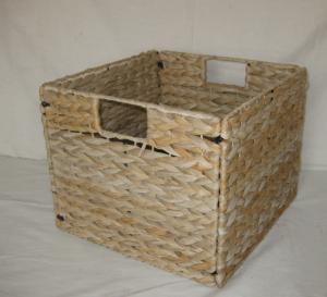 Best 2016 water hyacinth square foldable storage basket/sundries basket 23cm*23cm wholesale