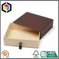 Best Brown Color Kraft Paper Gift Box Drawer Style; Chipboard Paper Gift Box wholesale