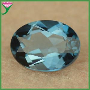 Best Natural Oval Shape Star Loose Natural Gemstone London Blue Topaz Price Per Carat wholesale
