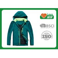 China Outdoor Sport Warm Up Jackets For Camping / Hiking Green Blue Color on sale