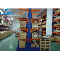 Durable blue powder coating Cantilever Racking Systems for long material