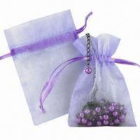 China Organza Bag, Various Colors and Shapes are Available on sale