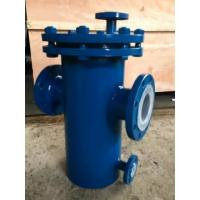 Best Carbon Steel Basket Water Meter Strainer Flanged End Connect With PTFE Lined wholesale