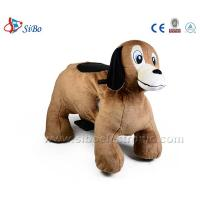 Best Coin Operated Plush Motorcycle Battery Operated Ride Animals Happy Rider Toys On Wheel wholesale