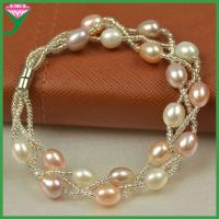 Best 2015 Fashion New trends jewelry cultured mix colour freshwater pearl bangle price wholesale