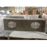 Best Superior Double Sink Prefab Bathroom Vanity Tops Venetian Gold Granite Stone wholesale