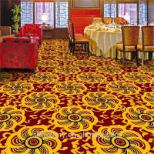 Best Cheaper yellow chrysanthemum pattern restaurant polypropylene carpet wholesale