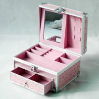 Best Convenient Aluminum Makeup Train Case Easy Operate With Mirror And Drawer wholesale