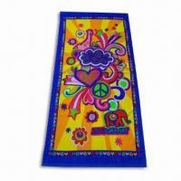 China Velour Reactive Printed Beach Towel, Made of 100% Cotton,Customized Designs are Welcome on sale