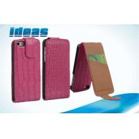 China PC Plain Weave Mobile Phone Leather Case , Apple iPhone Protective Pouch on sale