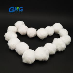 China Swimming Pool Sand Filter Media Ball Of Polyester Fiber Ball Circle Shape on sale