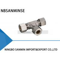 Best Brass Compression Fitting Pneumatic Air Fittings 4 , 6 , 8 , 10  12 mm Port Size wholesale