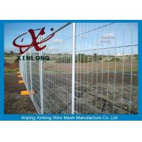 China Security Temporary Fencing Panels Welded Wire Mesh Fence Metal Base Temporary Site on sale