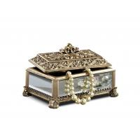 Best Baroque Leaves Antique Gold Trinket Box / Beautiful Resin Jewelry Box wholesale