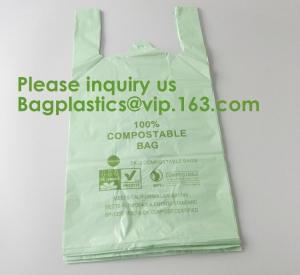 Best Heavy Duty Compostable T-shirt Handle Tie Plastic Roll Garbage Bags Trash Bags, t shirt carry bags, bagease, bagplastics wholesale