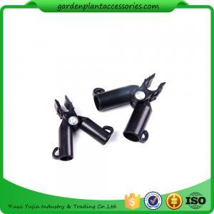Best Adjustable Garden Cane Connectors , 16mm Black Bamboo Cane Connectors 50*40*40 Free sample wholesale